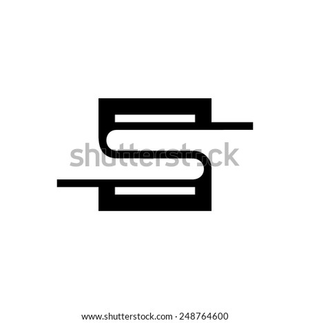 Sign Letter S Branding Identity Corporate Stock Vector