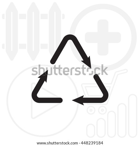 sign waste processing, web icon.