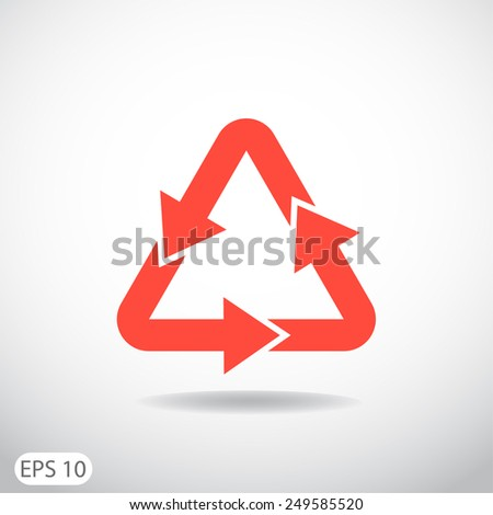sign waste processing, web icon. vector design - stock vector