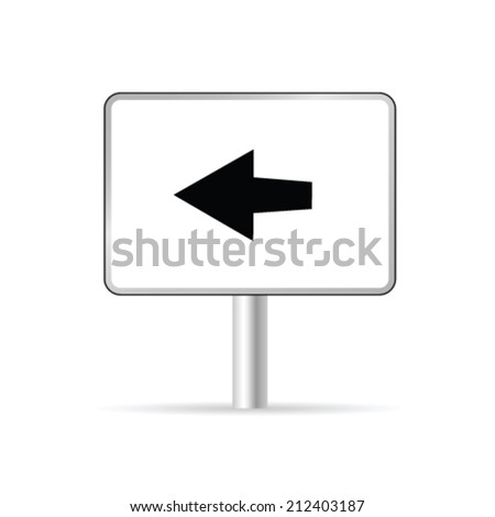 sign with arrow vector illustration on white