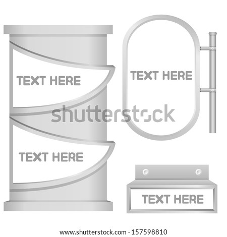 signage, blank display - stock vector