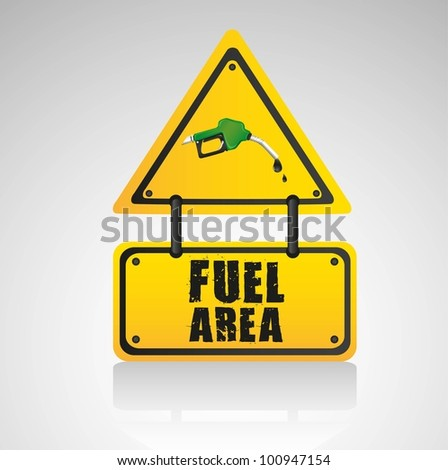 signal fuel area, isolated on white background - stock vector