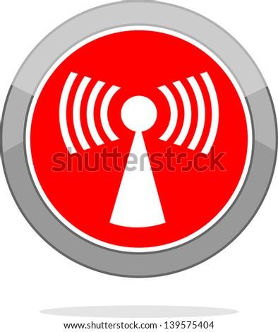 Signal, icon vector - stock vector