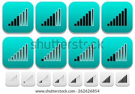 Signal Strength Indicator icons - stock vector