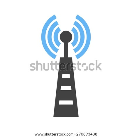Signals, telecom, tower, technology icon vector image. Can also be used for communication, connection, technology. Suitable for web apps, mobile apps and print media. - stock vector
