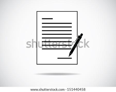 Signature - stock vector
