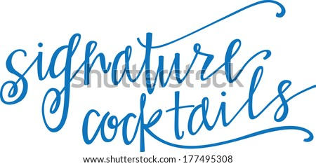 signature cocktails - stock vector