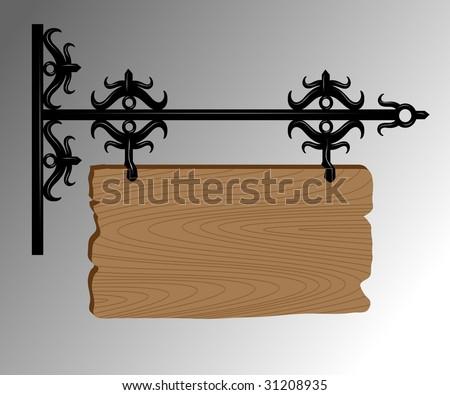 signboard - stock vector