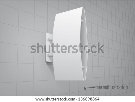 Signboard, you can change the color keeping the same 3d image - stock vector