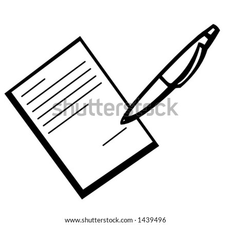 signing a contract - stock vector