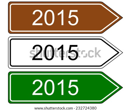 Signpost 2015 - stock vector
