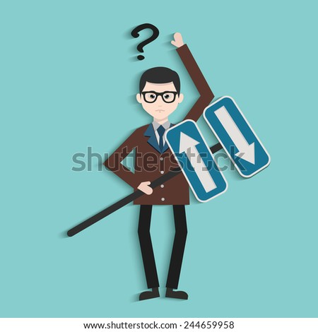 Signpost,Human resource,Businessman design,clean vector - stock vector