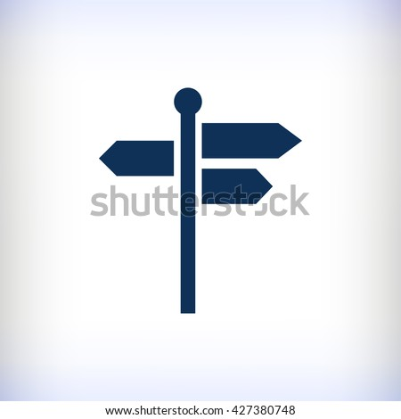 signpost icon - stock vector