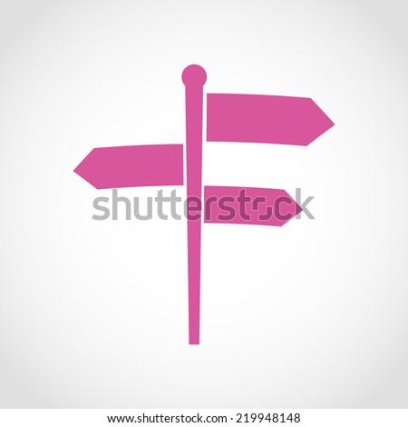 Signpost Icon Isolated on White Background - stock vector
