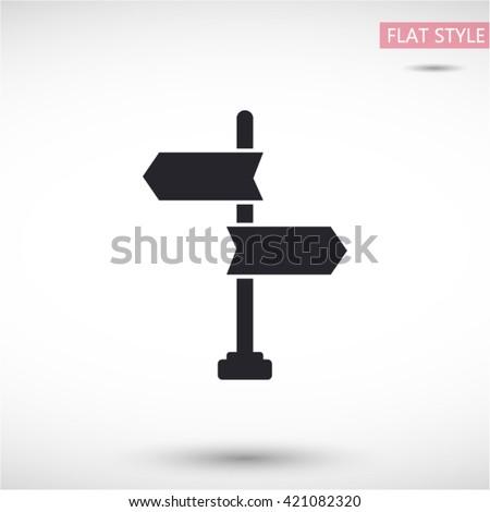 signpost icon. vector 10 EPS - stock vector