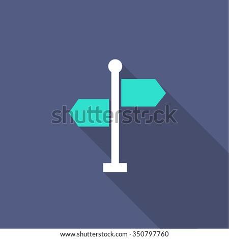 signpost icon. vector illustration - stock vector