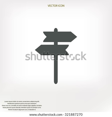 signpost vector icon - stock vector