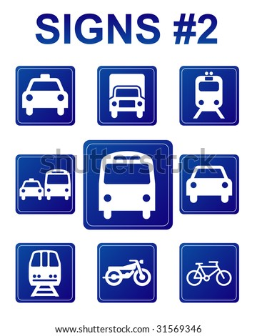 Signs #2 - stock vector