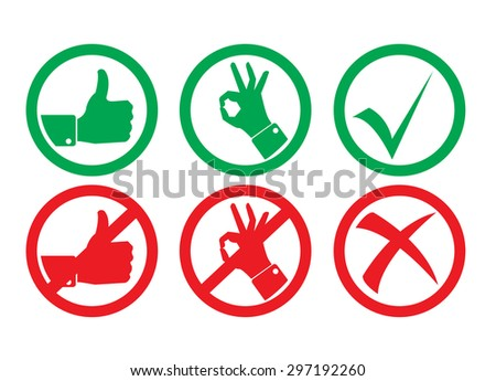 Signs and Symbols - stock vector