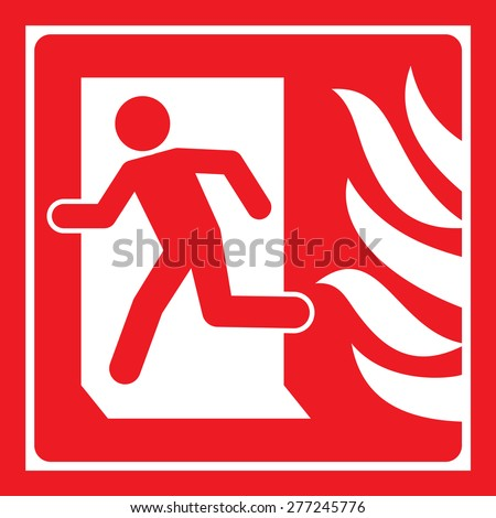 Signs Fire Safety Stock Vector 277245776 Shutterstock