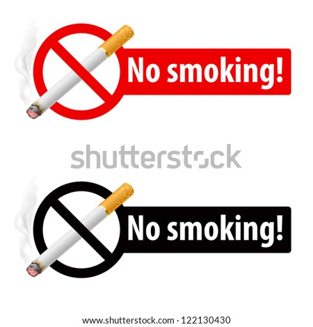 Signs No smoking. Illustration on white background - stock vector