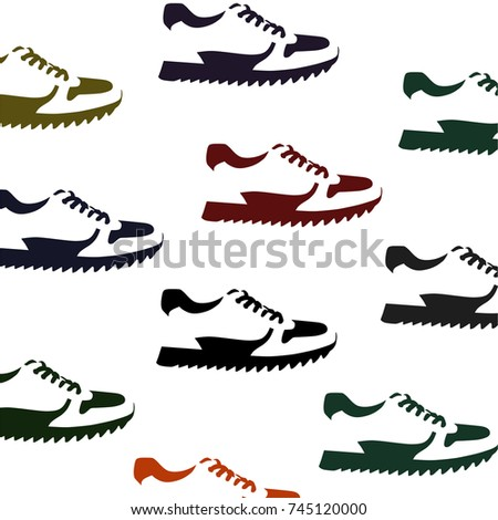 signs of shoes on white background