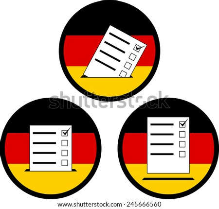 signs of voting in germany. vector illustration - stock vector