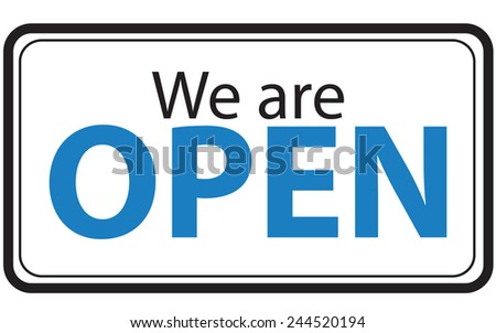 signs Open and Closed. Vector illustration - stock vector