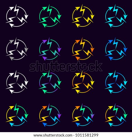 Signs Set Electrical Circulation Vector Symbol Stock Vector 2018
