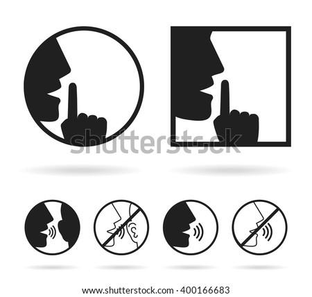 silence set icon stock vector 400166683 shutterstock. Black Bedroom Furniture Sets. Home Design Ideas