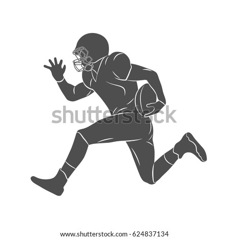 silhouette american football player on a white background vector illustration