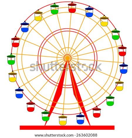 ... ferris whee... Ferris Wheel Vector Free Download