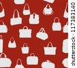 silhouette bag seamless pattern. vector illustration. EPS 10 - stock vector