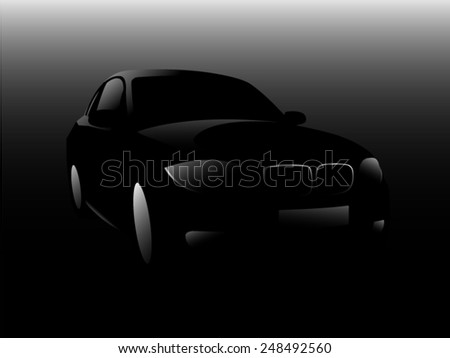 Silhouette car. Vector illustration