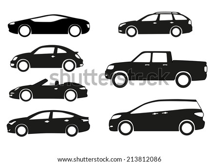 silhouette cars on white background stock vector 2018 213812086 rh shutterstock com race car silhouette vector auto silhouette vector