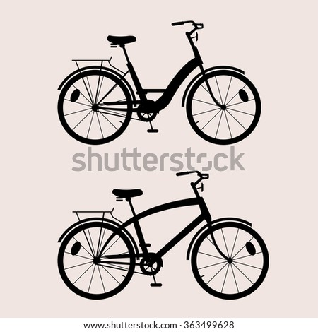 silhouette classic bikes black for people