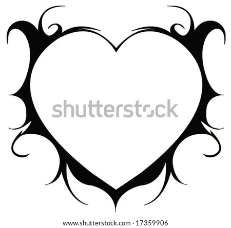 Silhouette corazone illustration - stock vector