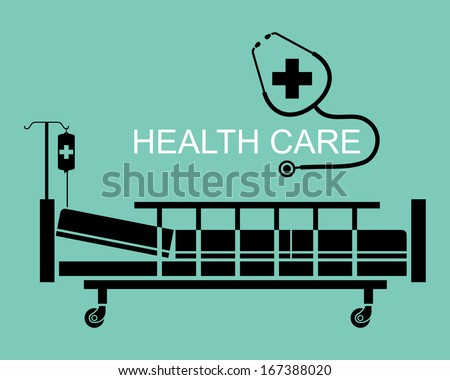 Silhouette elements, Health care concept, illustration vector design. - stock vector
