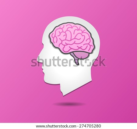 Silhouette Face and Brain