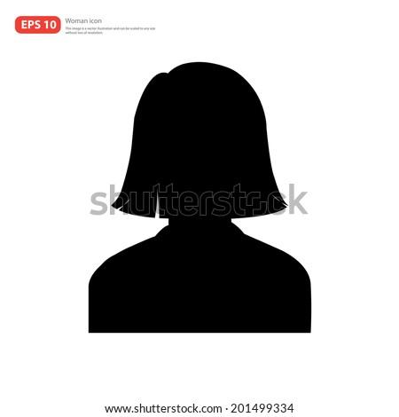 Silhouette Female avatar profile picture icon  - stock vector