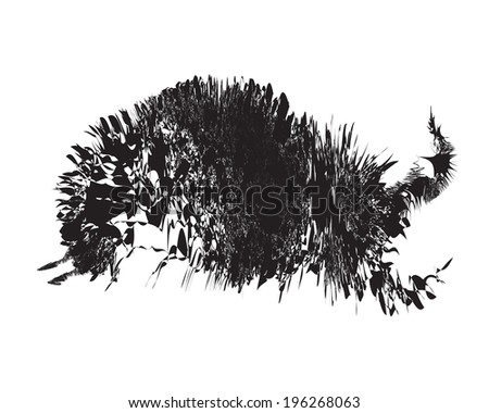 Silhouette free form shape vector like running bull on white background