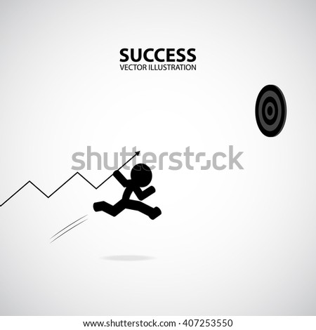 Silhouette Graphic Design. Success Concept. - stock vector