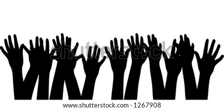 Silhouette hands, scalable vector - stock vector
