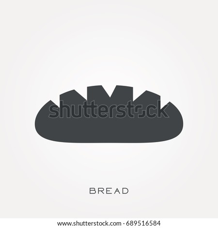 Silhouette icon bread