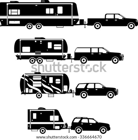 Rv Trailer Cartoon Clip Art