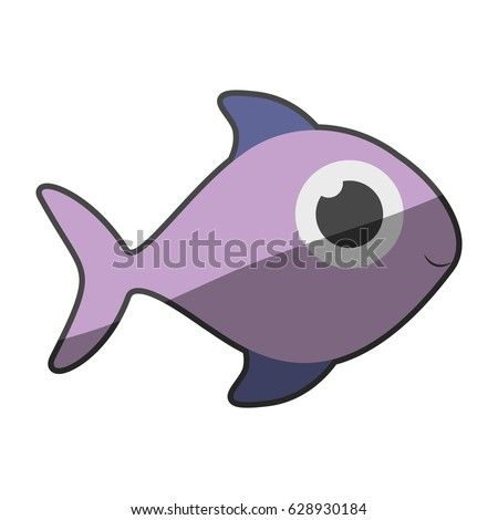 Clown fish silhouette stock images royalty free images for Fish without scales