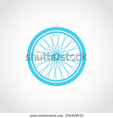 Silhouette of a bicycle wheel Icon Isolated on White Background
