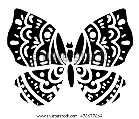 Silhouette of a butterfly, butterfly vector, butterfly illustration