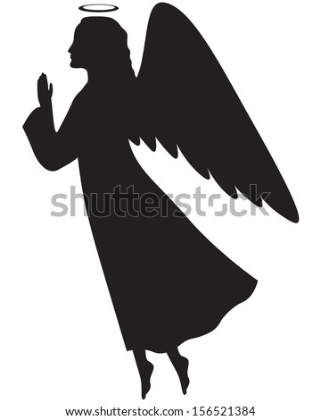 christmas angels silhouette angel silhouette stock photos images pictures 2801