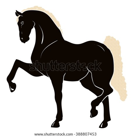 Silhouette of a circus horse